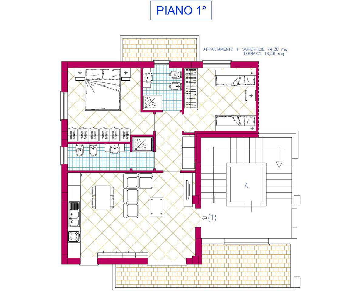 Planimetrieplans fratelli cau costruzione e vendita - Costo ascensore interno 1 piano ...